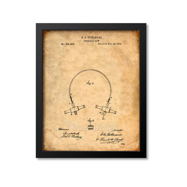 Surgical Saw Patent Print