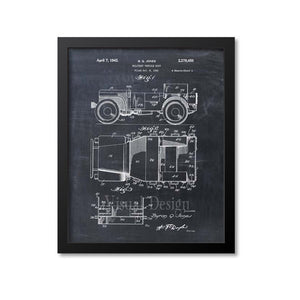 Willys Jeep Patent Print
