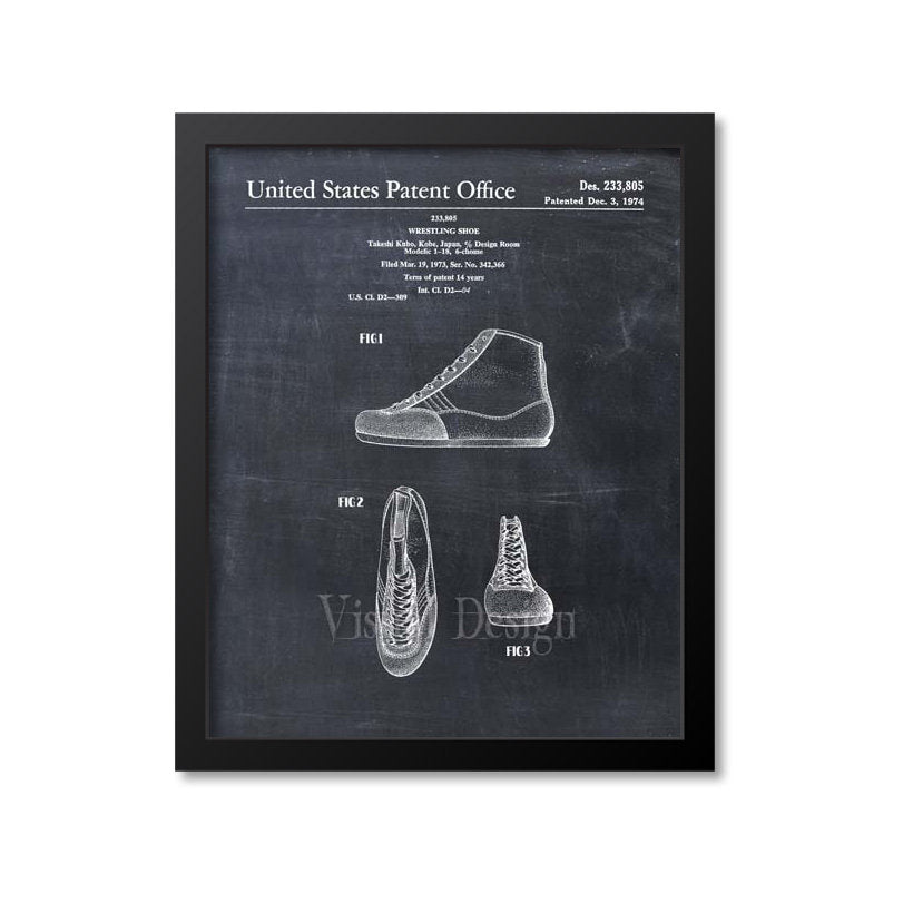 Wrestling Shoes Patent Print