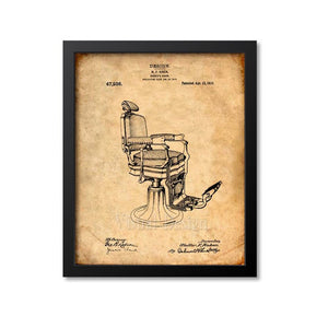 Barber Koken Chair Patent Print