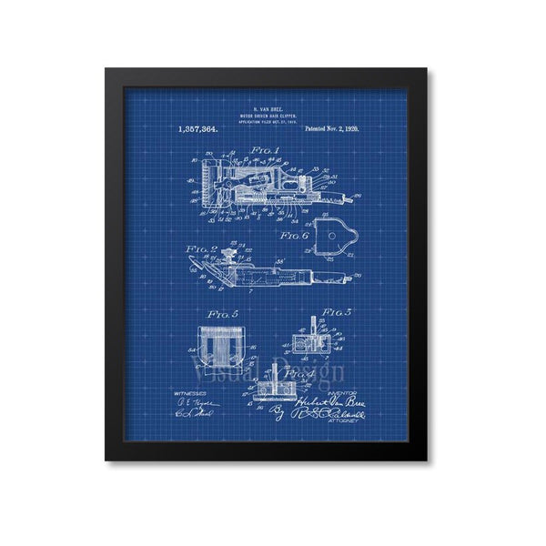 Barber Motor Driven Hair Clipper Patent Print