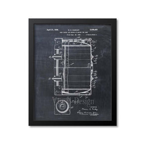 Beer Barrel Patent Print
