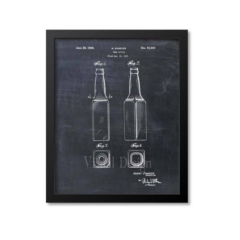 Beer Bottle Patent Print