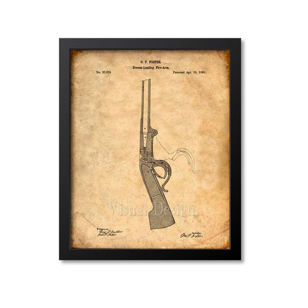 Burnside Carbine Patent Print