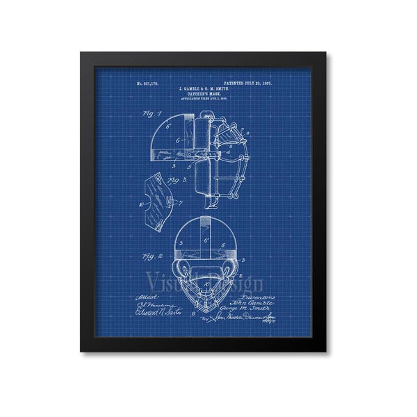 Catcher's Mask Patent Print