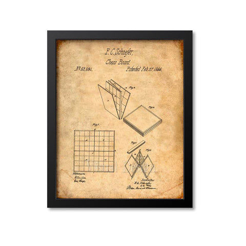Chess Board Patent Print