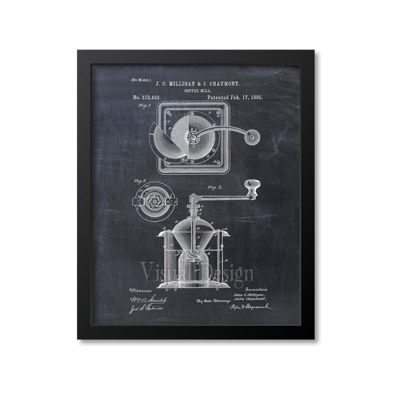 Coffee Mill Patent Print