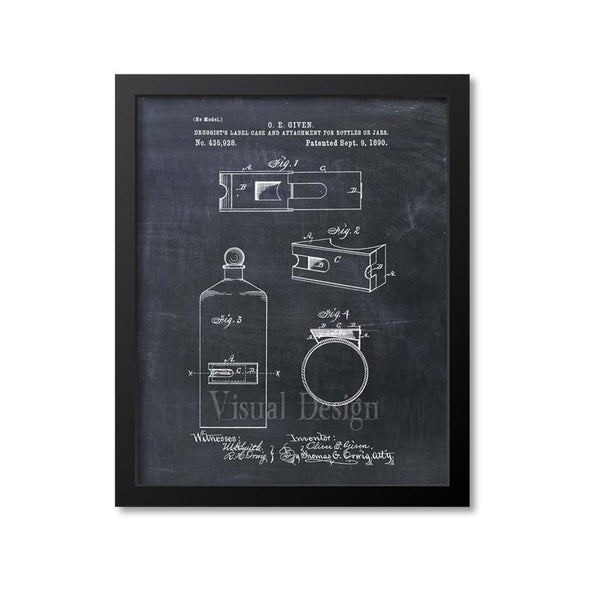 Druggists Bottle Patent Print