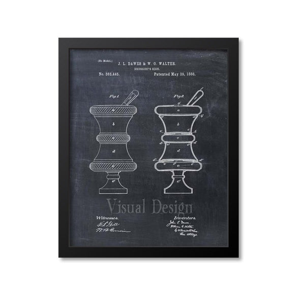 Druggists Sign Patent Print