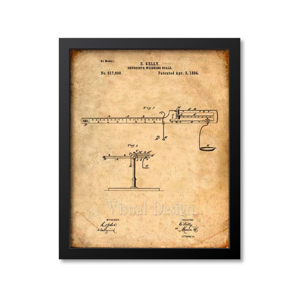 Druggists Weighing Scale Patent Print