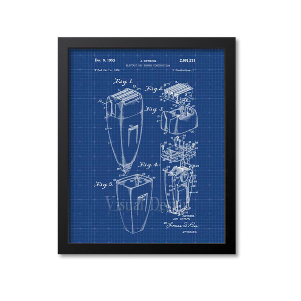 Electric Shaving Razor Patent Print