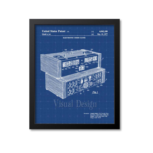 Electronic Chess Clock Patent Print