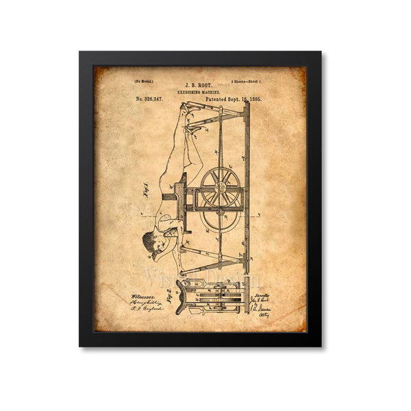 Exercising Machine Patent Print