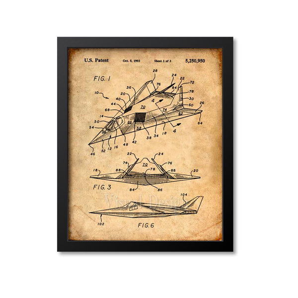 F-117 Stealth Airplane Patent Print