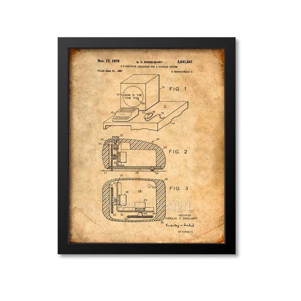 First Computer Mouse Patent Print