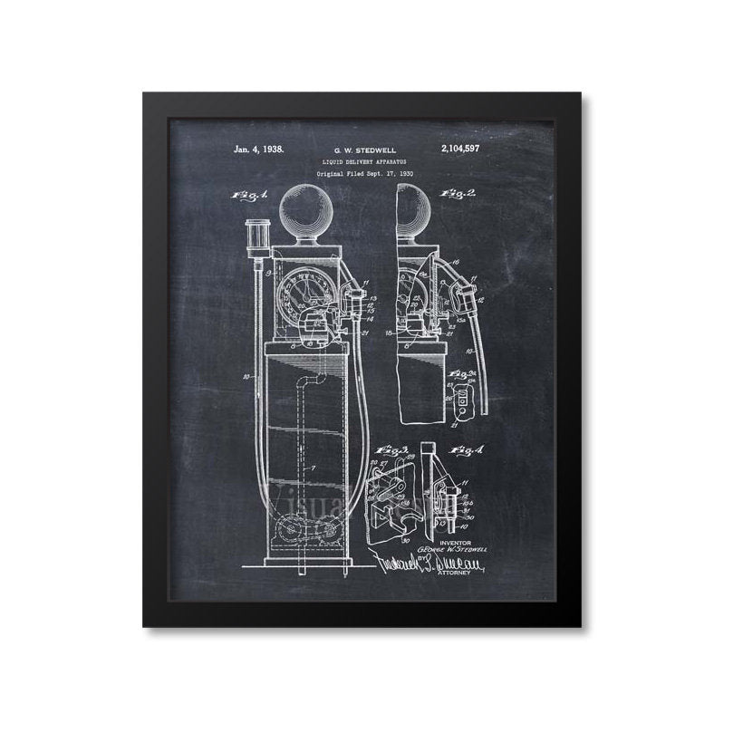 First Gas Pump Patent Print