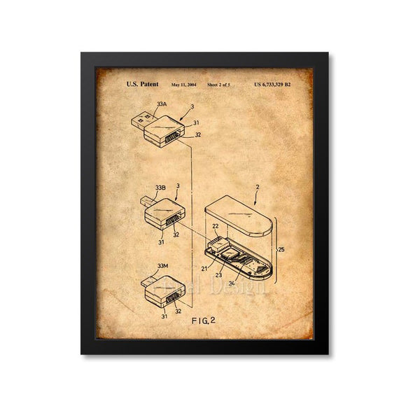 Flash Drive Patent Print