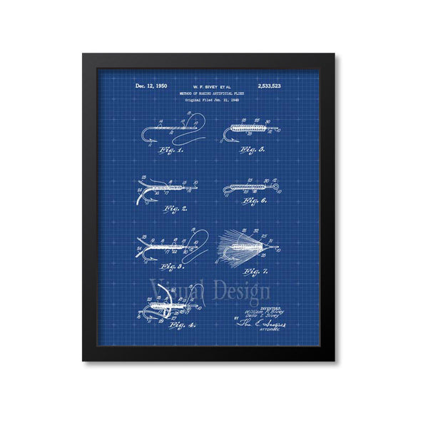 Fly Fishing Patent Print