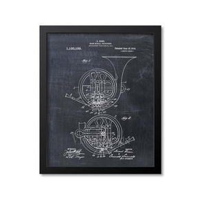 French Horn Patent Print