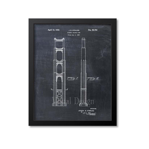 Golden Gate Bridge Patent Print