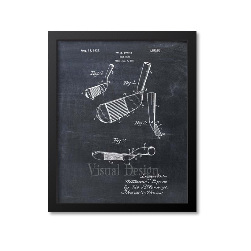 Golf Iron Patent Print