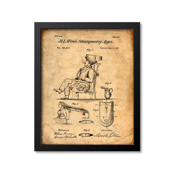 Hair Shampooing Appliance Patent Print
