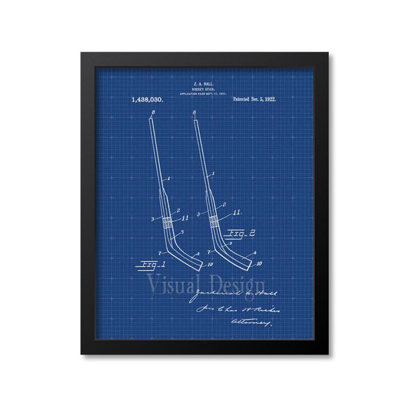 Hockey Stick Patent Print