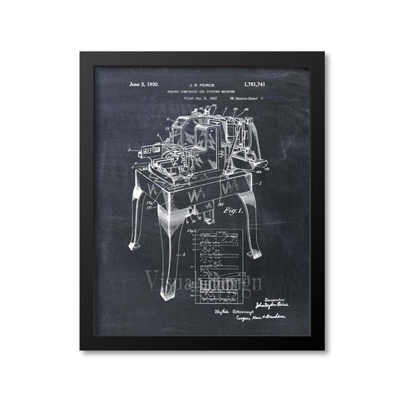 IBM Accounting Machine Patent Print