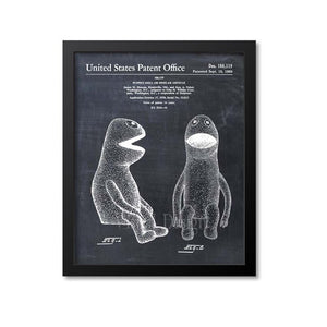 Kermit The Frog Muppet Patent Print