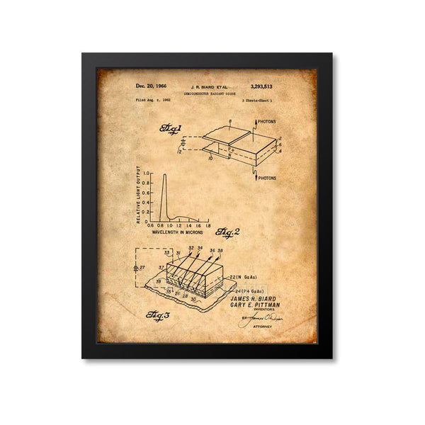 Led Light Patent Print