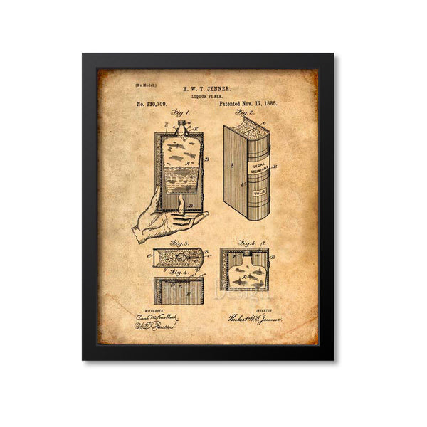 Liquor Flask In Legal Decisions Book Patent Print