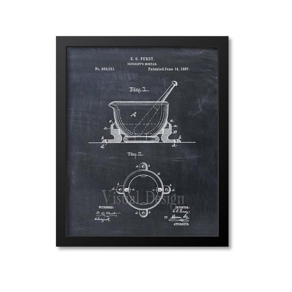Mortar And Pestle Patent Print