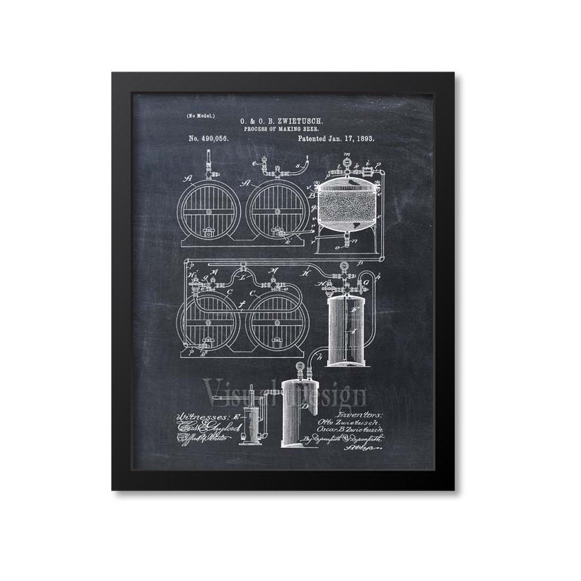 Beer Making Process Patent Print