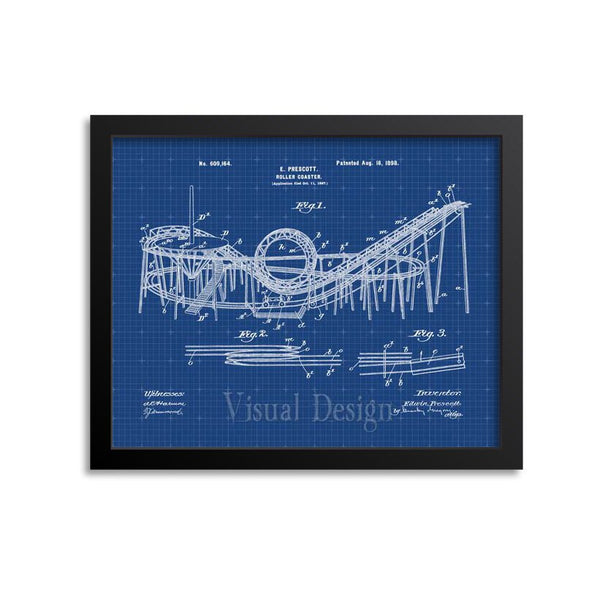 Roller Coaster Patent Print