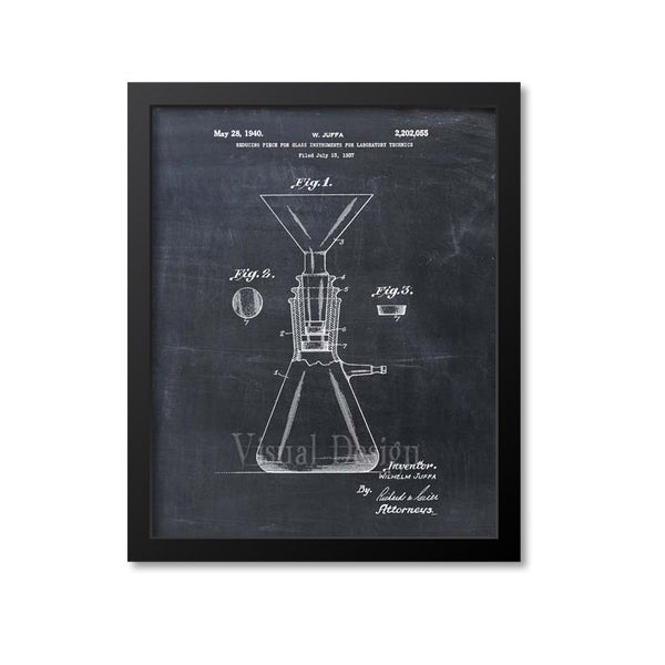 Science Equipment Reducing Piece Patent Print