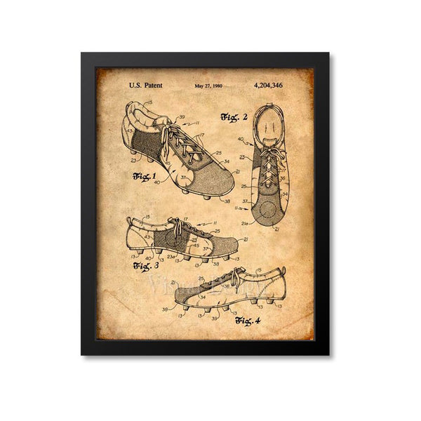 Soccer Shoes Patent Print