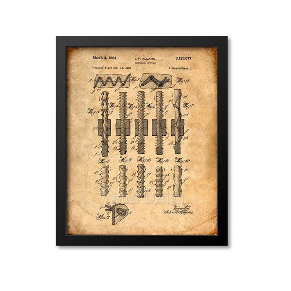 Surgical Suture Patent Print