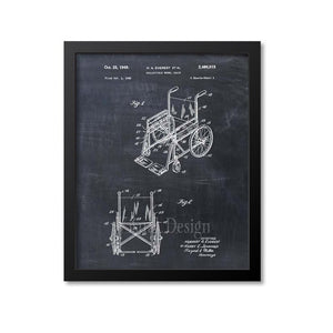 Wheelchair Patent Print