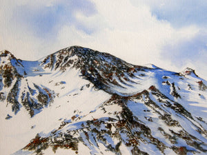 Painting of the Roc d'Orzival in Winter