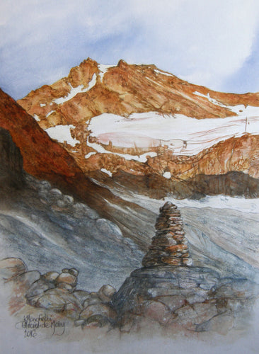 Painting of the Moiry glacier