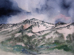 Painting of the Roc d'Orzival
