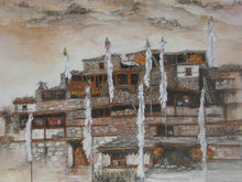 Load image into Gallery viewer, Painting of a village Nepal
