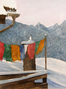 Painting of Prayer Flags