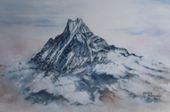 Painting of Machapuchare