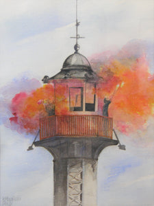 Painting of a lighthouse