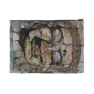 Smiling Stone Face ACCESSORY POUCH