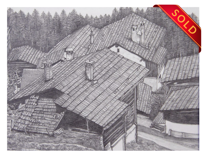 Chalet rooftops