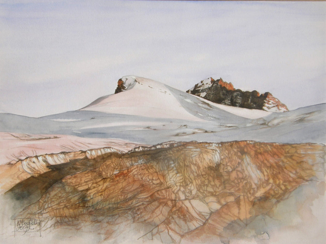 Painting of the Moiry Glacier.
