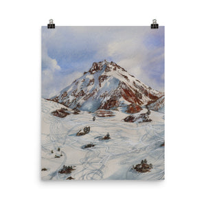 The Rothorn and ski-tracks POSTER