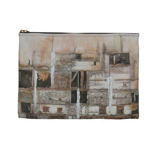 White prayer flags ACCESSORY POUCH